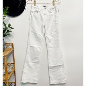 CURRENT ELLIOTT Jarvis Flare Jeans White Sugar